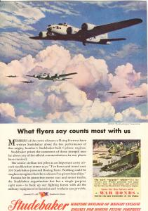 Studebaker Flyers of the B 17 WWII  Ad w0511 (Image1)