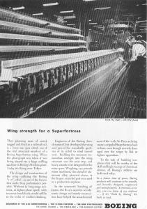 Boeing WWII B29 Wing Machining Ad w0514 (Image1)