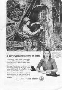 Bell Telephone  WWII  Switchboard Ad w0515 (Image1)