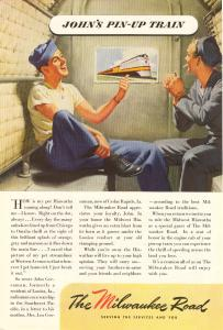 Milwaukee Road WWII  Pin Up Train Ad w0516 (Image1)