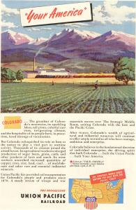 Union Pacific RR Your America CO Ad (Image1)