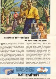 Hallicrafters Radio Banana Net  Ad w0521 (Image1)