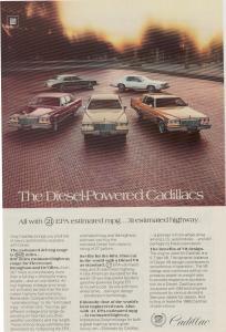 1980 Cadillac Full Diesel Line Ad w0522 (Image1)
