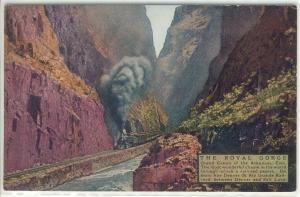 Steam Train Royal Gorge AR Postcard w0537 (Image1)