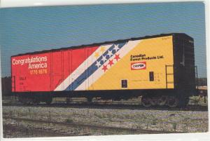 Railroad Boxcar Canada Forest Products Postcard w0540 (Image1)