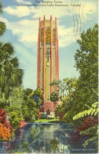 Lake Wales Florida Singing Tower Postcard w0601 (Image1)