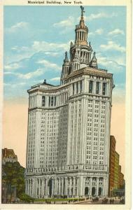 New York City Municipal Building Postcard w0623 (Image1)