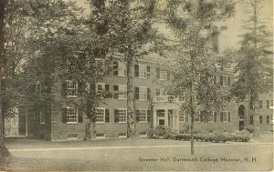 Dartmouth College Streeter Hall NH Postcard w0629 (Image1)
