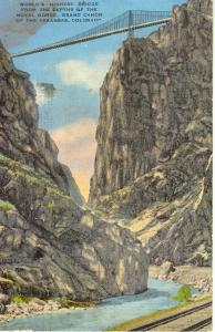 Royal Gorge Bridge CO Postcard w0651 (Image1)