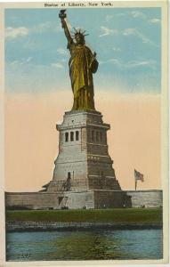 New York City Statue of Liberty Postcard w0655 (Image1)