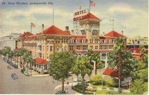 Jacksonville FL Hotel Windsor  Postcard w0662 (Image1)