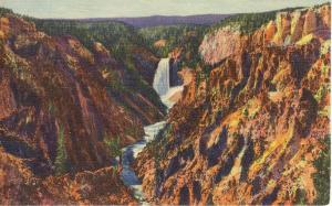 Yellowstone WY Grand Canyon Postcard w0672 (Image1)
