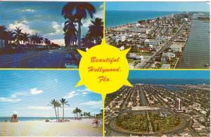 Hollywood Florida Multi View Postcard w0738 (Image1)