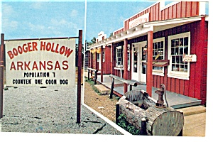 Booger Hollow Arkansas Main Street Postcard (Image1)