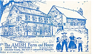 Lancaster,PA, The Amish Farm and House  Postcard (Image1)