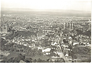 Bamberg Germany Aerial View Postcard W0811