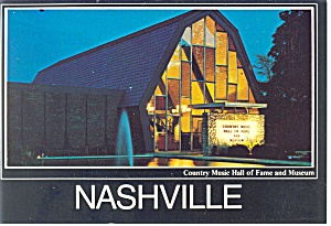 Nashville TN Country Music Hall of Fame Postcard w0813 (Image1)