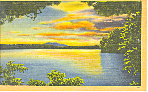 Paugus Bay Lake Winnipesaukee ,NH Postcard (Image1)