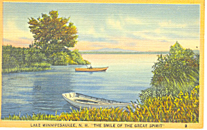 Great Spirit Lake Winnipesaukee ,NH Postcard 1943 (Image1)