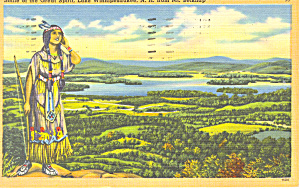 Great Spirit Lake Winnipesaukee ,NH Postcard 1955 (Image1)