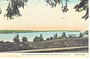 Lake Winnipesaukee ,NH Hand Colored Postcard 1938 (Image1)