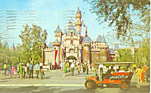 Sleeping Beauty s Castle Disneyland CA Postcard w0858 1969 (Image1)