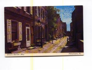 Elfreth S Alley Philadelphia PA Postcard x0007 (Image1)