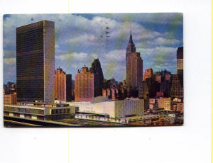 United Nations New York Postcard (Image1)