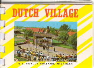 Dutch Village Holland Mi Souvenir Folder X0110