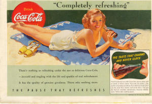 Coca Cola Ad X0168 Aug 1941 Completely Refreshing