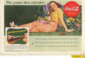 Coca Cola Ad X0169 June 1941 Pause That Refreshes