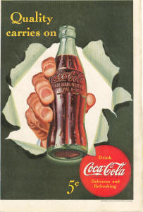 Coca Cola Ad X0173 Jun 1942 Quality Carries On