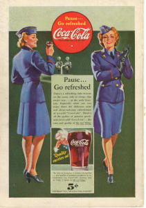 Coca Cola Ad X0175 Oct 1942 Pause Go Refreshed