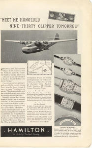 1936 Pan American Clipper Ad X0243