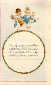 Merry Christmas Postcard 1920s (Image1)