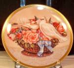 Click here to enlarge image and see more about item d3167: Romance In Bloom Gloria Vanderbilt Collector's Plate
