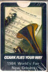 Click here to enlarge image and see more about item ac0017: Ozark Airlines 1984 Worlds Fair Playing Cards Sealed