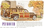 Click here to enlarge image and see more about item ad0006: Plymouth Woody Wagon Ad in Color