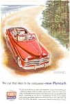 Click here to enlarge image and see more about item ad0007: Plymouth Convertible Ad in Color