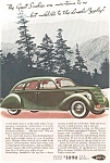 Click here to enlarge image and see more about item ad0010: Lincoln Zephyr V-12 Ad ca 1936