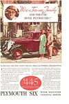 Click here to enlarge image and see more about item ad0018: Plymouth Six AD 1933