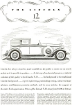 Click here to enlarge image and see more about item ad0030: 1932 Lincoln V 12 Ad ad0030