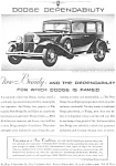 1931 Dodge Six Sedan Ad