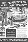 Click here to enlarge image and see more about item ad0036: 1940 Plymouth Ad  ad0036 ca 1939