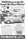 Click here to enlarge image and see more about item ad0037: Plymouth Ad ad0037 ca 1936