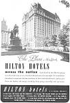 Click here to enlarge image and see more about item ad0046: Hilton Hotels The Plaza New York City Ad ad0046