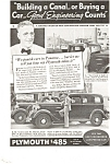 Click here to enlarge image and see more about item ad0057: Plymouth Panama Canal AD ad0057 1932