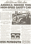 Click here to enlarge image and see more about item ad0058: Plymouth Auto Show Ad 1935