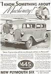 Click here to enlarge image and see more about item ad0062: Plymouth  Deluxe 4 Door Sedan Ad ad0062 1933