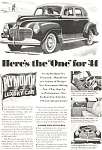 Click here to enlarge image and see more about item ad0075: Plymouth  Here is the One for '41 Ad